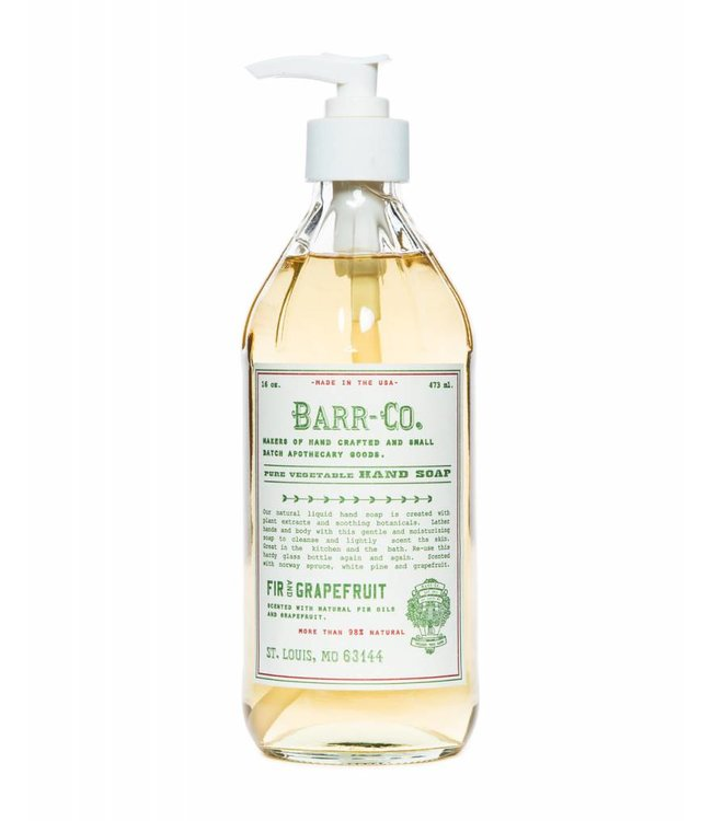 Barr Co. Fir and Grapefruit Liquid Hand Soap