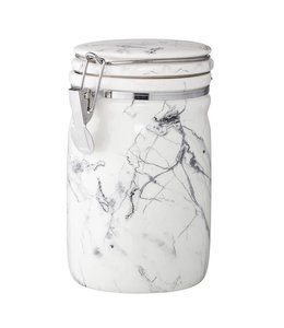 Bloomingville Marbled White/Grey Canister 7""