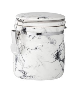 Bloomingville Marbled White/Grey Canister 5""