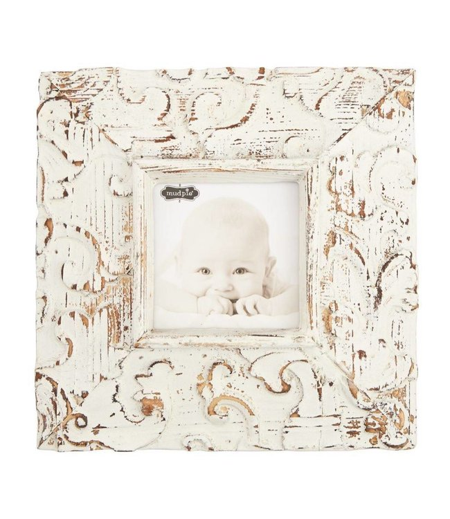 Mud Pie Square Molded Antique Textured Frame