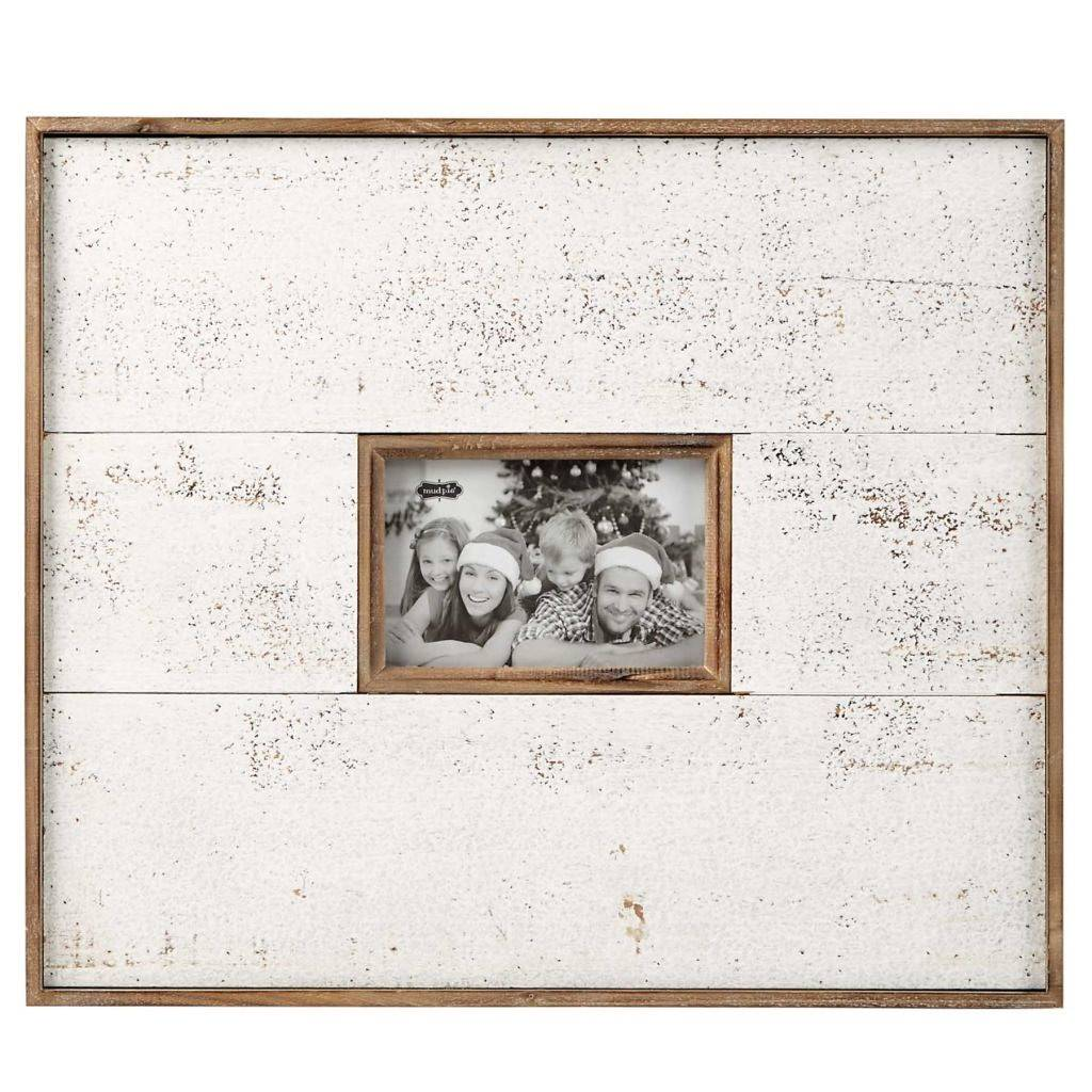 mud pie large white natural distressed frame - Distressed Frames