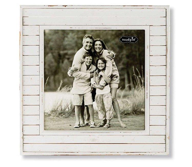 mud pie square white frame the gingham buffalo - Mud Pie Picture Frames