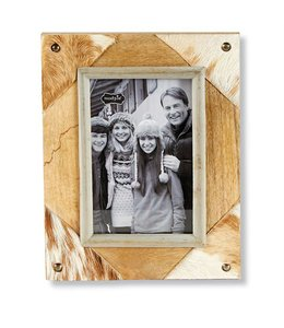 Mud Pie Cowhide Frame
