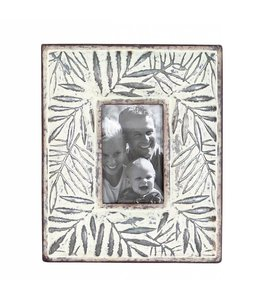 Foreside Home & Garden Etched Leaf Frame 4x6