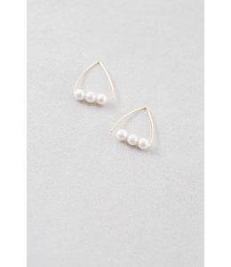 Lovoda Elyse Triangle Threader Earrings 24K