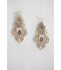 Lovoda Graphite Filligree Drip Earrings