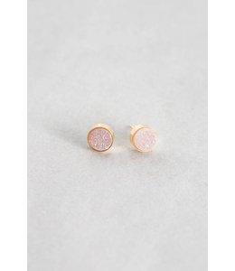 Lovoda Small Kaleidoscope Druzy Earrings Daydream