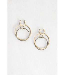 Lovoda Wild Heart Rustic Hoop Earrings Gold