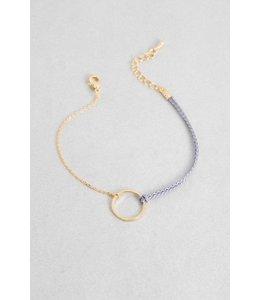 Lovoda Circle Charm Rope Bracelet Gold