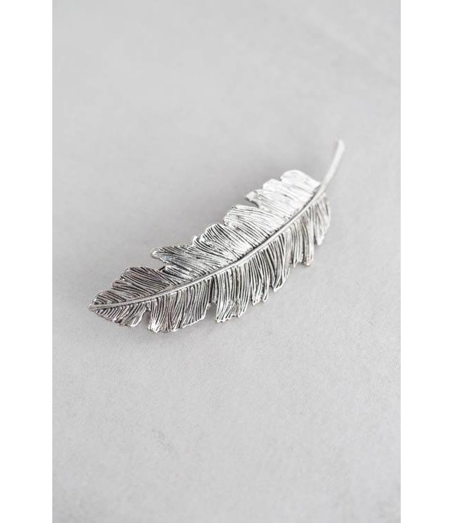 Lovoda Feather Barrette Gunmetal