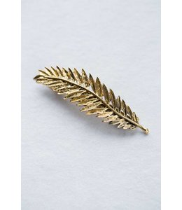 Lovoda Leaf Barrette Sun Gold