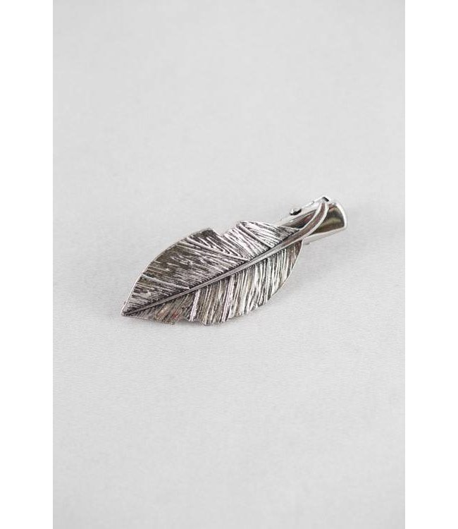 Lovoda Leaf Hair Clip Rustic Silver