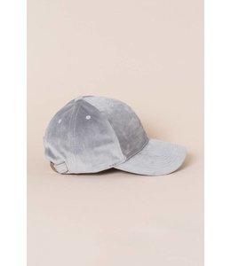Lovoda Velvet Baseball Cap Gray