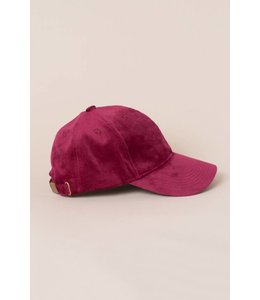 Lovoda Velvet Baseball Cap Wine Red