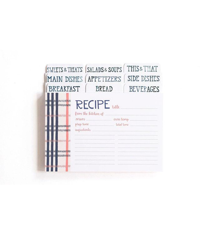 One Canoe Two Fireside Plaid Recipe Cards