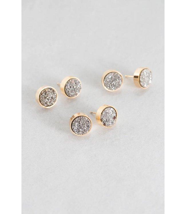 Lovoda Kaleidoscope Druzy Earrings - Stargaze