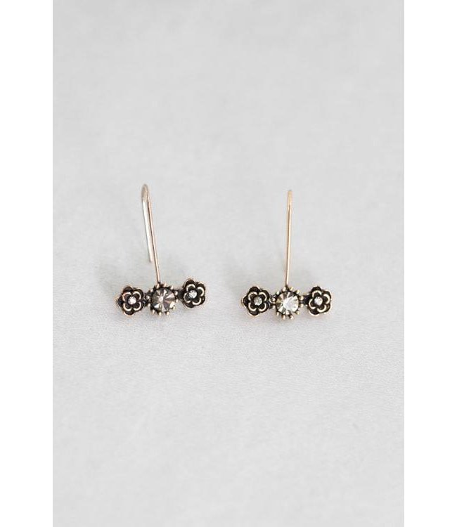 Lovoda Slate Rose Hook Earrings