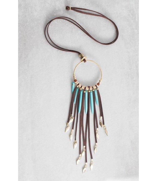 Lovoda Tribal Tassel Necklace - Colbie