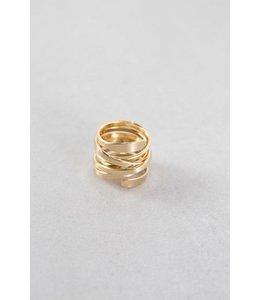 Lovoda Diem Wrap Ring - Matte Gold