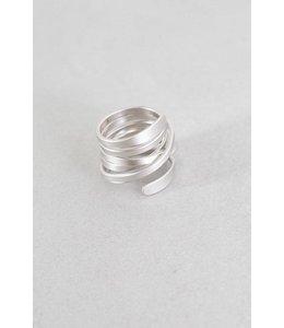 Lovoda Diem Wrap Ring - Matte Silver