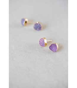 Lovoda Flat Triangle Galactic Purple Earrings