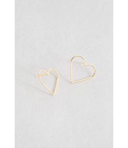 Lovoda Hearts Content Stud Earrings - Gold