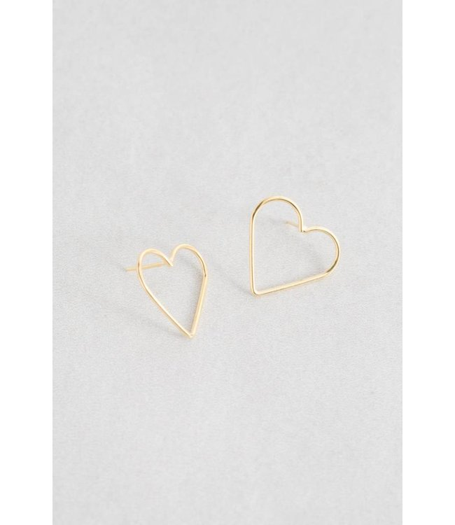 Lovoda Hearts Content Stud Earrings - Gold