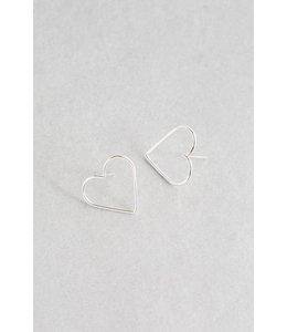 Lovoda Hearts Content Stud Earrings - Silver