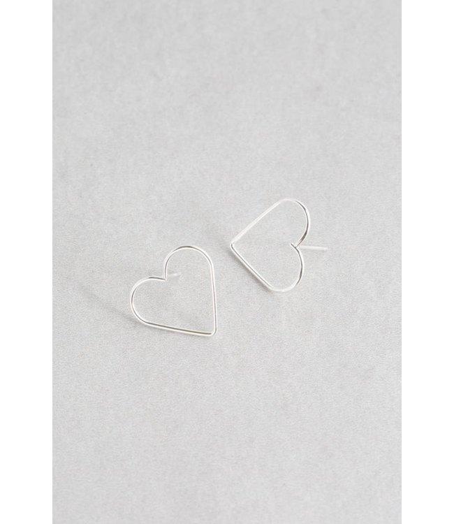 Lovoda Hearts Content Stud Earrings - Silver