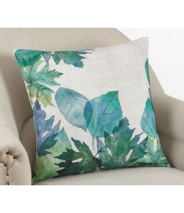 Watercolor Leaf Pillow Square - Multi