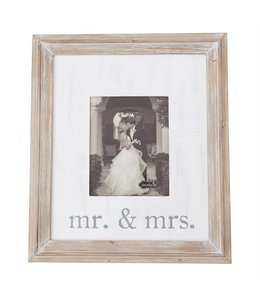 Mud Pie Mr. & Mrs. Large Wood Frame