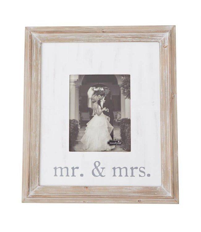 Mud Pie Mr. & Mrs. Large Wood Frame