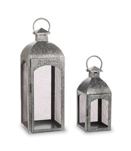 Mud Pie Tin Lantern Large 25""