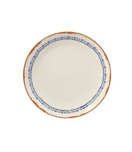 Mud Pie Bungalow Dinner Plate - Leaf Edge