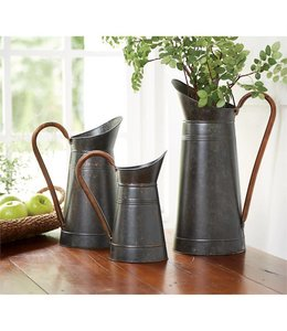 Mud Pie Galvanized Tin Pitcher