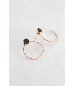 Lovoda Galilea Stone Ear Jacket Earrings - Black