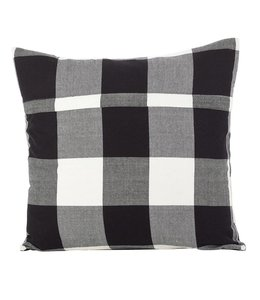 Buffalo Plaid Pillow White Square