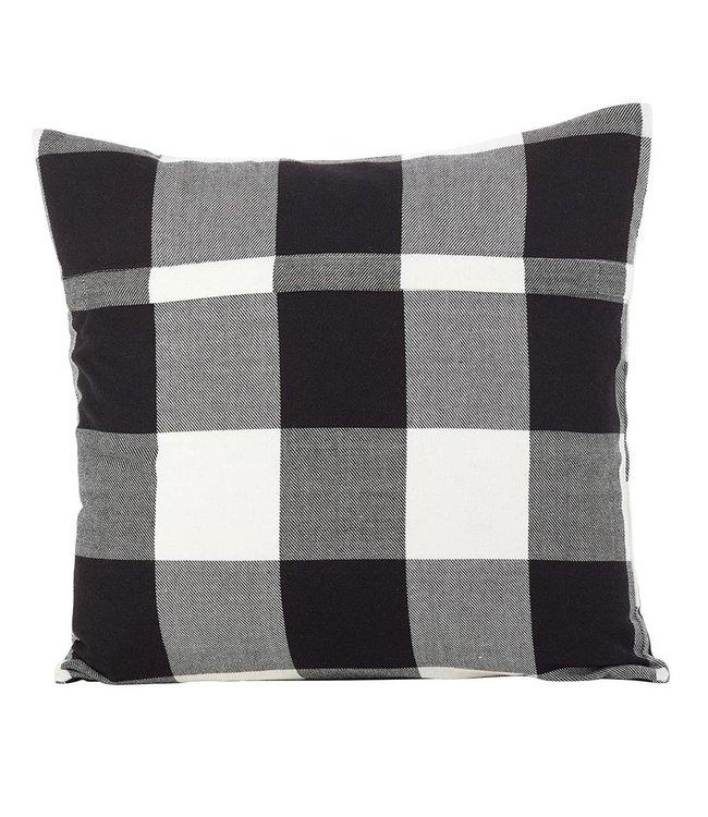 Buffalo Plaid Pillow White Square