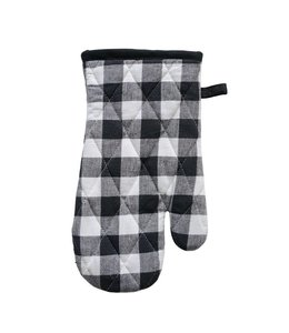 Creative Co-Op Black Gingham Hot Mitt