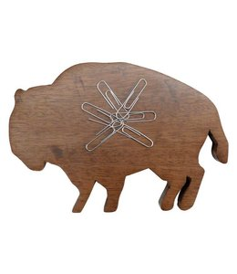 Floor 9 Buffalo Wood Desk Magnet