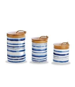 Mud Pie Water Stripped Canister