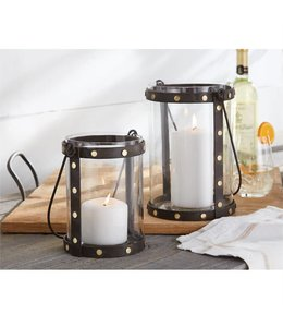 Mud Pie Studded Metal Lantern