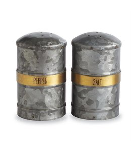 Mud Pie Tin Salt & Pepper Shakers