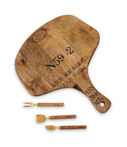 Mud Pie Wine Paddle Board Set