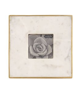 "Mud Pie Marble & Gold Frame 3"" x 3"""