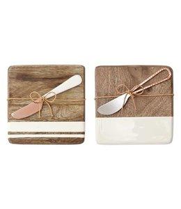 Mud Pie Wood & Enamel Bar Board