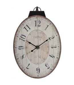 A & B Home Thaddeus Oval Wall Clock