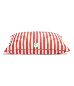 Harry Barker Vintage Stripe Envelope Dog Bed Small Red