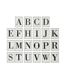 Creative Co-Op Metal Alphabet Wall Decor