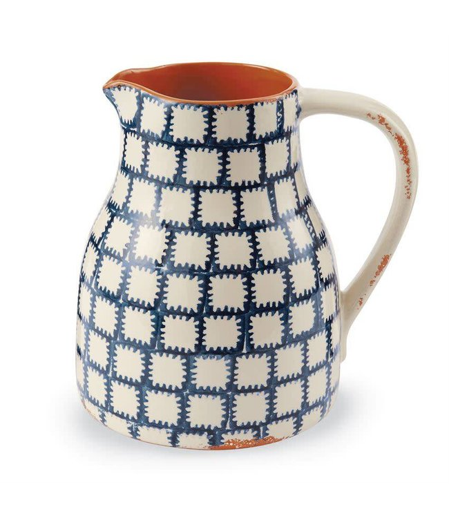 Mud Pie Bungalow Ikat Pitcher